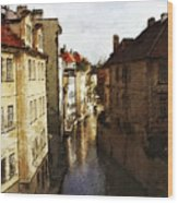 Old Prague Wood Print