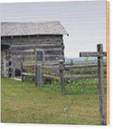 Old Prairie Home Wood Print