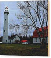 Old Presque Isle Lighthouse Wood Print