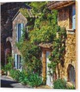 Old Provencal Village Street Wood Print