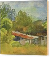 Old Ranch In Costa Rica Wood Print