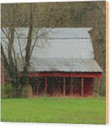 Old Red Barn In Jefferson County Wood Print