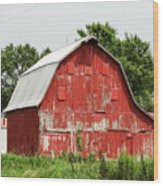 Old Red Barn Johnson County Ia Wood Print