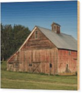 Old Red Barn Palouse Wa Dsc05067 Wood Print