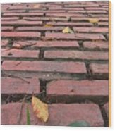 Old Red Brick Road Wood Print by Yali Shi