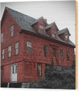 Old Red House In Shelburne Falls Wood Print