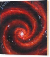Old Red Spiral Galaxy Wood Print