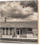 Old Rio Grande Train Stop Wood Print