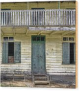 Old River House Wood Print