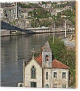 Old Riverside Church In Portugal Wood Print