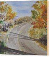 Old Road Wood Print