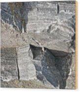 Old Rock Background Wood Print