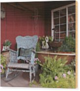 Old Rockin' Chair Wood Print