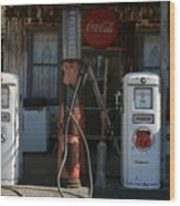 Old Route 66 Gas Station Wood Print