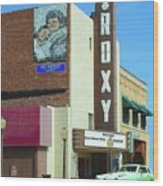 Old Roxy Theater In Muskogee, Oklahoma Wood Print