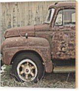 Old Rust Truck Wood Print