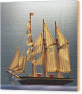 Old Sailing Ship Wood Print