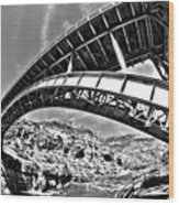 Old Salt River Bridge - Arizona Wood Print