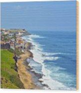 Old San Juan Coastline 3 Wood Print