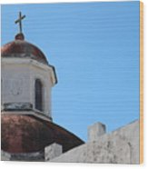 Old San Juan Puerto Rico Downtown Church Wood Print