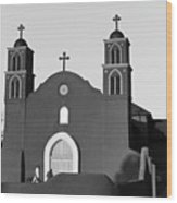 Old San Miguel Mission, Socorro, New Mexico, March 12, 2017 Wood Print