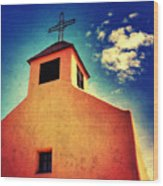 Old Santa Fe Church Wood Print