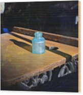 Old School Desk Wood Print