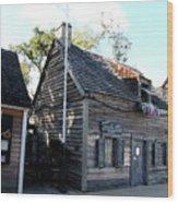 Old School House - St Augustine Wood Print