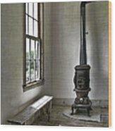 Old School House Stove Wood Print