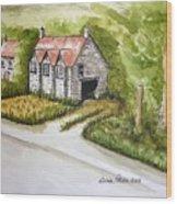 Old Scottish Stone Barn Wood Print