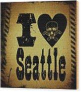 Old Seattle Wood Print