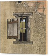Old Shack Wood Print by Bernard Jaubert