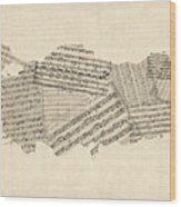 Old Sheet Music Map Of Turkey Map Wood Print