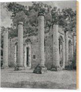 Old Sheldon Church Ruins, South Carolina Wood Print
