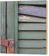 Old Shutters French Quarter Wood Print