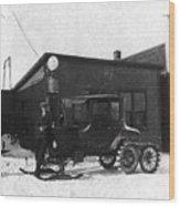 Old Ski Truck Wood Print