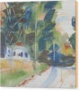 Old Slocum Road Wood Print