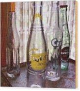 Old Soda Bottles Wood Print