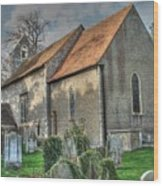 Old St Mary's Walmer Wood Print
