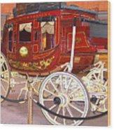 Old Stagecoach - Wells Fargo Inc. Wood Print