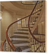 Old State House Spiral Staircase Wood Print