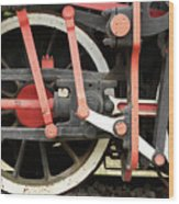 Old Steam Locomotive Wheels Wood Print