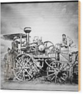 Old Steam Tractor Wood Print