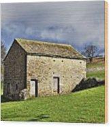 Old Stone Barns Wood Print
