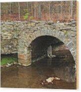 Old Stone Bridge In Illinois 1 Wood Print