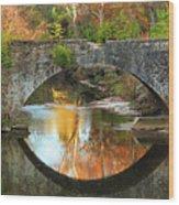 Old Stone Bridge Over Fountain Creek 2 Wood Print
