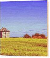 Old Stone Farmhouse Tuscany Wood Print