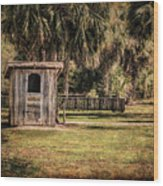 Old Storage Shed Wood Print