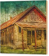 Old Store Wood Print