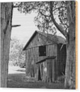 Old Structures Wood Print